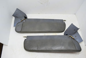 1983-1986 Ford Mustang Convertible Sun Visor Pair Blue With Trim OEM Original