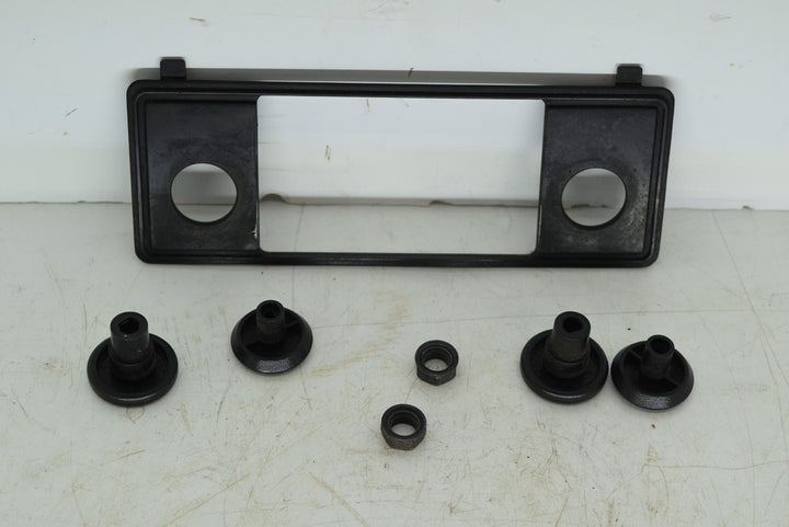 Original 1979-1986 Ford Mustang Radio Stereo Bezel With Knob Black OEM Dash Trim