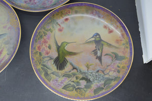 5 Bradford Exchange Collectors Plates Natures Little Treasures Birds Decor Shed