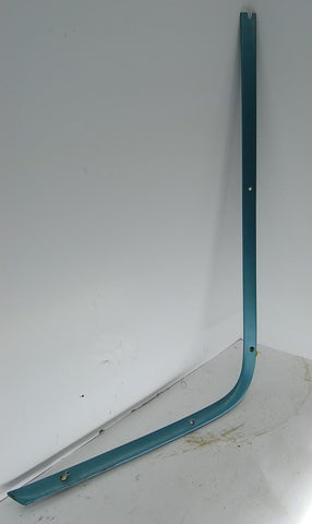 1963 63 Catalina LH Upper Rear Windshield Molding OEM Blue Upper Pontiac Trim