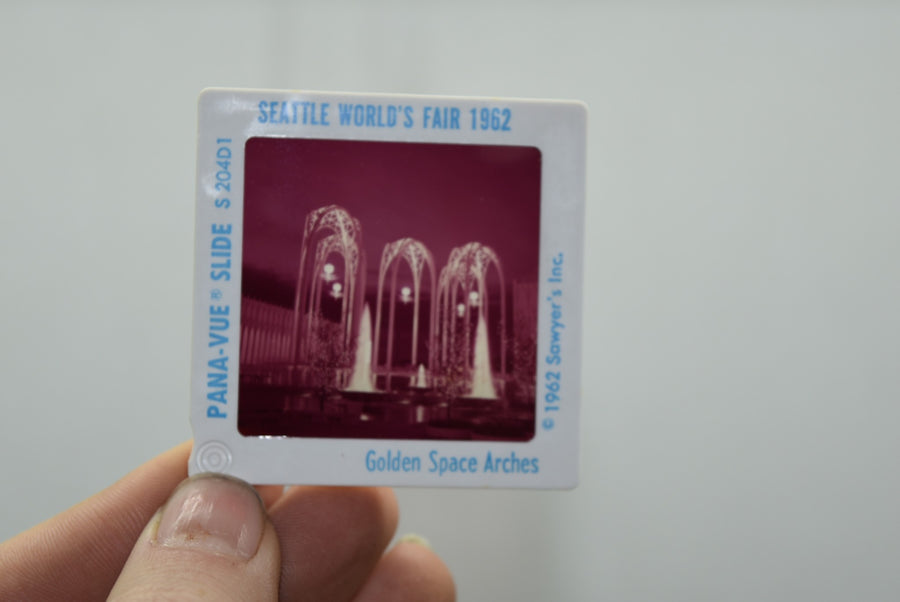 Lot of Vintage Film Photo Slides Seattle World Fair 1962 Space Needle Collection