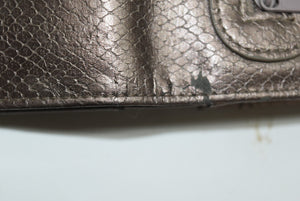 Big Buddha Metallic Snakeskin Wallet Clutch New Without Tags Womens Gift Reptile