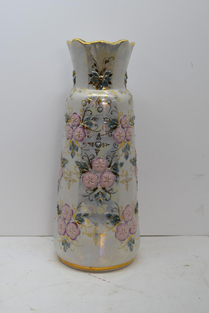 Hand Made Kislovodk Porcelain Vase Fenix Opalescent Decor Vintage Art She Shed