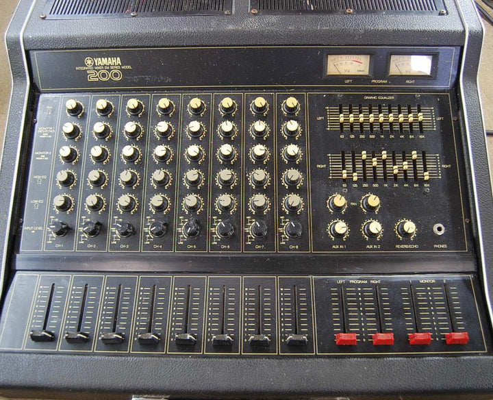 Yamaha 200 EM Professional 8-Channel Integrated Studio Audio Mixer EM-200B
