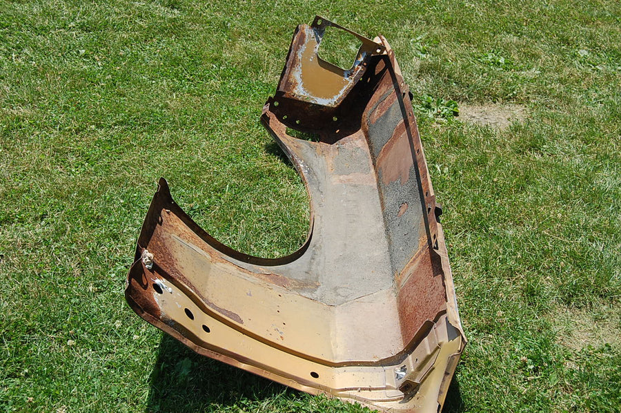 1970 Ford Mustang Passenger Front Fender Red Original Right Boss Mach 1