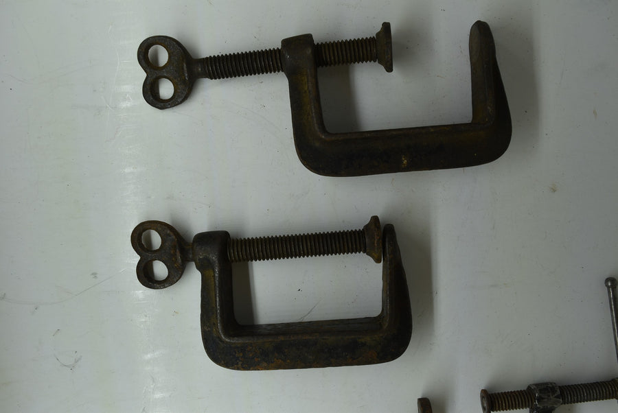 Lot of 5 Vintage Woodworking Clamps Collectible Tools Cincinnati Tool Co. B&C Co