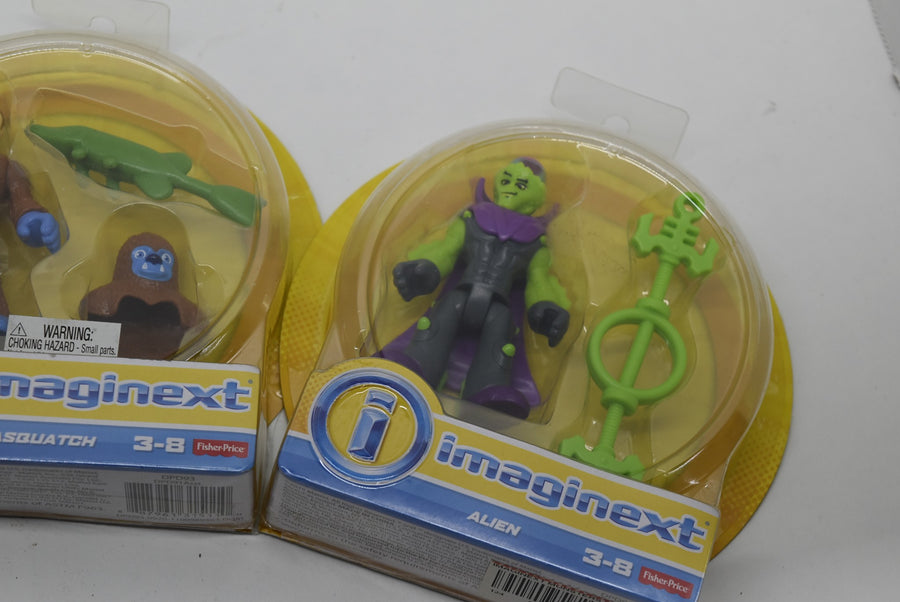 Imaginext collectible Toys swamp monster alien sasquatch lot of 4 Fisher Price