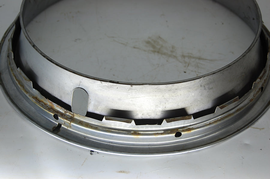 "GM Beauty Ring 14"" Inch Rim 3"" Deep Chrome Ford Chrysler Vintage Used hubcap"