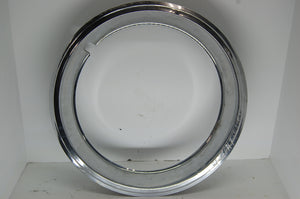 "GM Beauty Ring 15"" Inch Rim 2"" Deep Chrome Ford Chrysler Vintage Used hubcap"