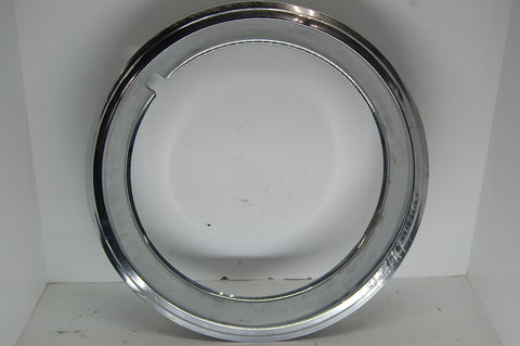 "GM Beauty Ring 15"" Inch Rim 2"" Deep OEM Chrome Ford Chrysler Vintage Used"