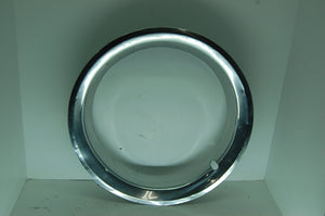 "GM Beauty Ring 15"" Inch Rim 3"" Deep Chrome Ford Chrysler Vintage Used hubcap"