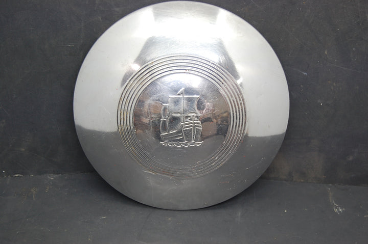 "1930-1940's Pymouth Hubcap 9"" Wheel Cover 30's-40's Boat Symbol Chrome OEM Mopar"