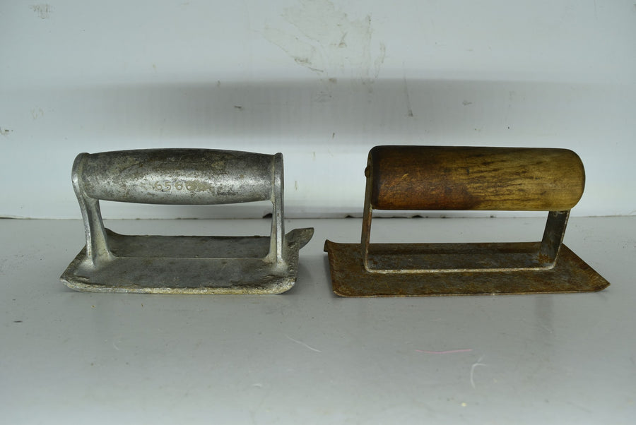Vintage Dunlap 6566 Concrete Finisher Seamer Jointer Wooden Handle Tools