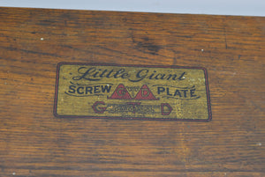 Vintage Little Giant Screw Plate Set Missing 1 Piece Wooden Box Tools Machinist