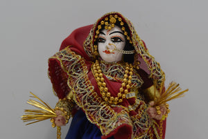 Handmade Indian Bride Doll Figurine Vintage Collectible She Shed Decor Unique