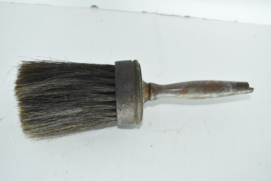 Large Round Brush Machinist Tool Barber Shop Brush Horse Hair Bristles Vintage