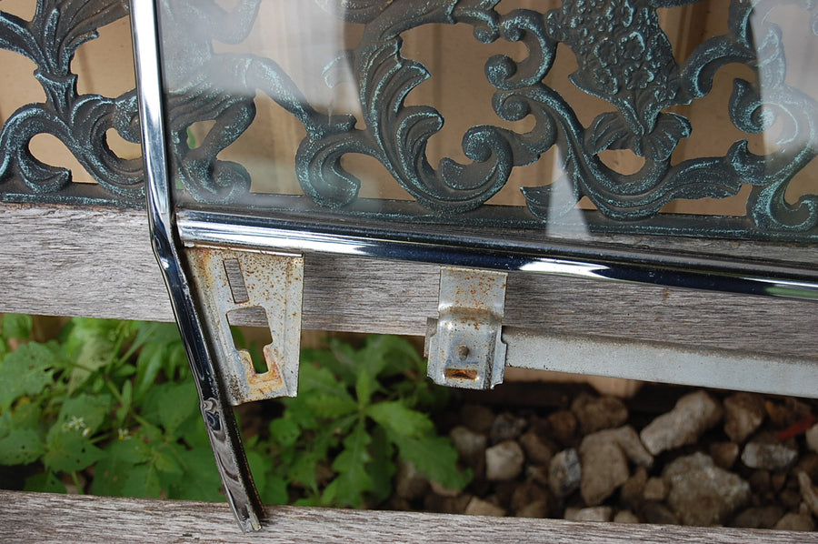 1963 Pontiac Catalina RH Passenger Door Glass With Frame Original Chrome