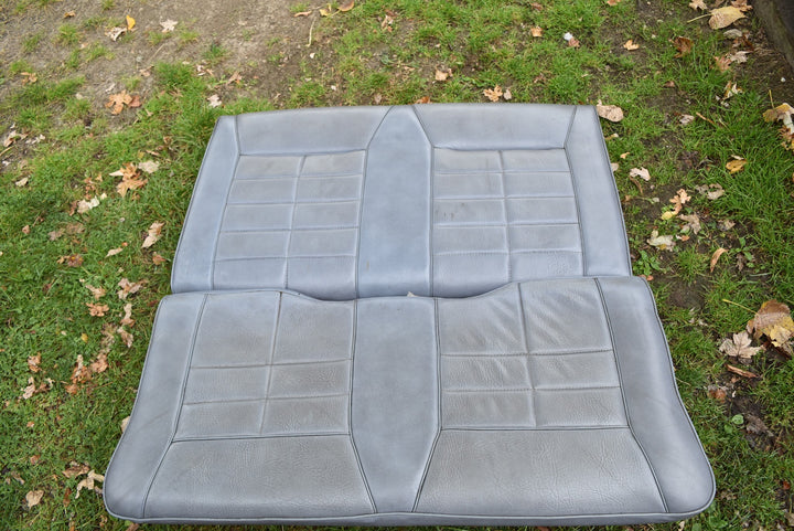 1983-1986 Ford Mustang Convertible Rear Bench Seat Blue Vinyl OEM Original