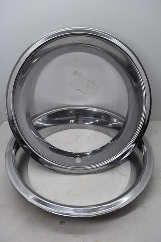 "Chevy GM 14"" Beauty Ring Chevrolet OEM Original Chrome 3"" Deep Set of 2"