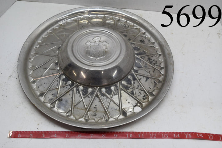 15 IN. RAT ROD WIRE LYON LYONS MFG CO HUBCAP WHEEL COVERS CENTER CAPS
