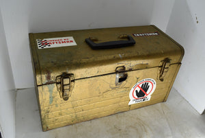 Vintage Craftsman Toolbox With Stickers Man Cave Garage Decor Tool Chest