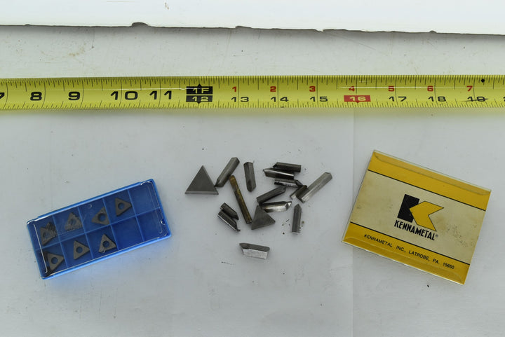 Lot of Vintage Machinist Carbide Cutting Bits Carboloy Kennametal Die Maker