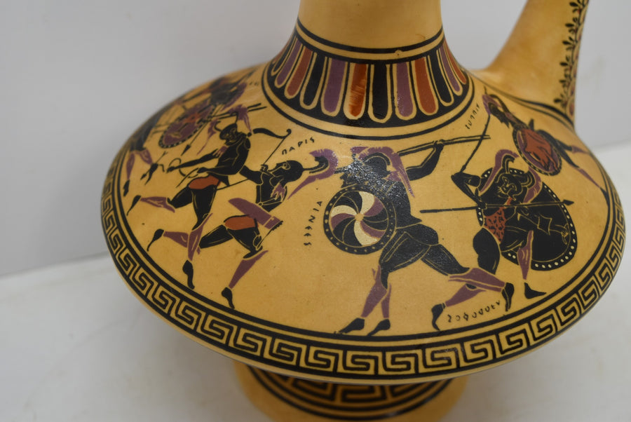 Vintage Greek Vase The Fight For The Body Of Achilles No. 116 D. Vassilopoulos