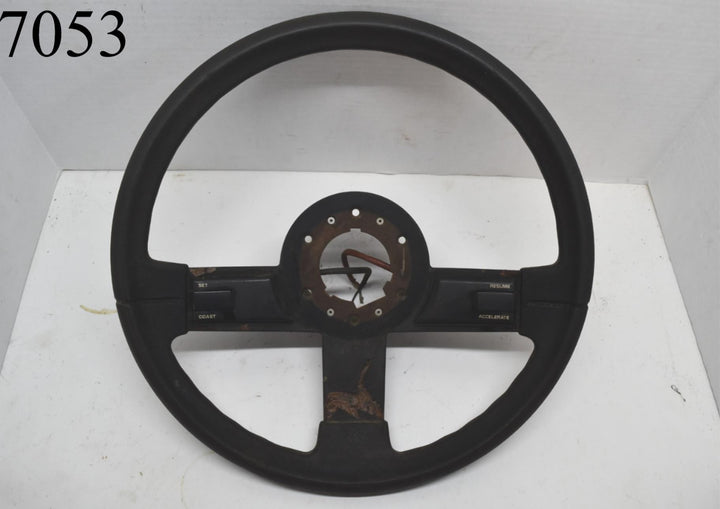 1984 1985 1986 Chevy Camaro Steering Wheel With Cruise 84 85 86 Black Rubber OEM