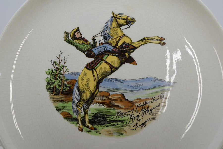 Roy Rogers And Trigger Many Happy Trails Vintage Collectible Plate Decor Art