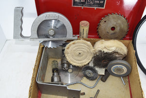 Lot Fasco Tool Box Fedco Circular Saw England Drill Shaft Extension Grinders