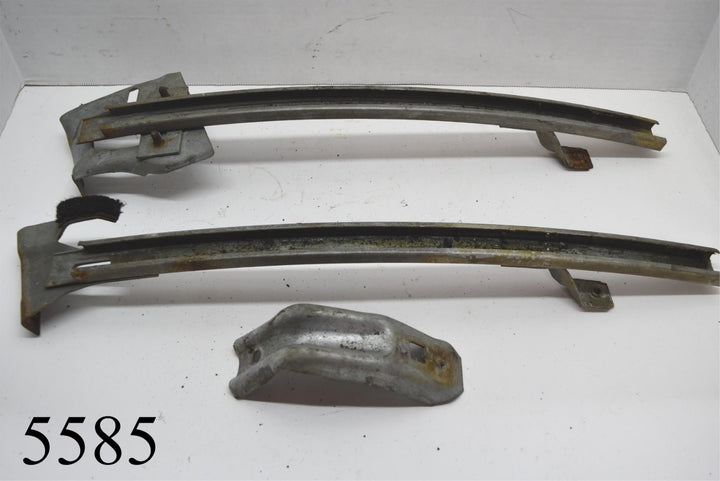 1970-1981 Camaro Firebird LH Window Track Guides Channels 3 Pcs GM Pontiac
