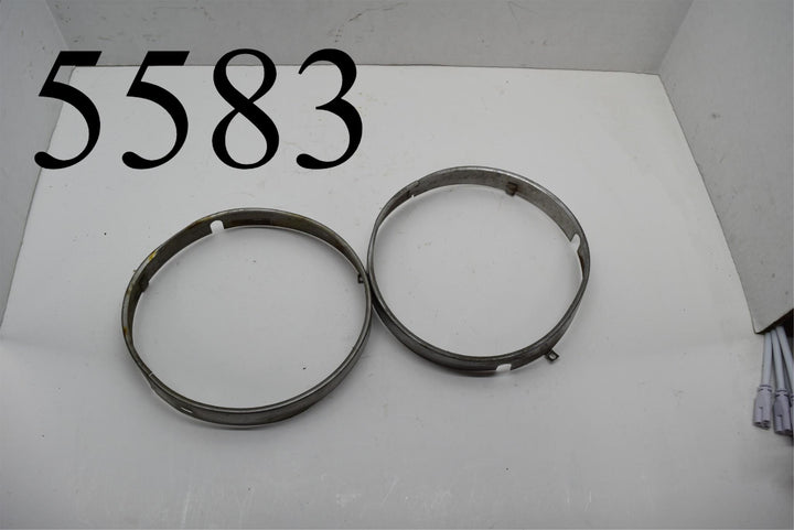 1969 70 Pontiac Firebird Lemans Chevelle Headlight Trim Rings