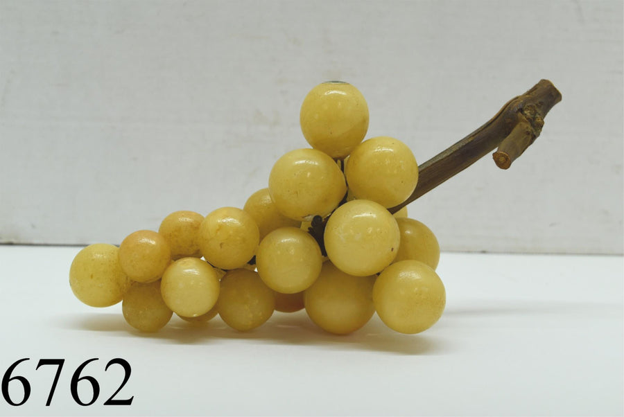 Vintage Mid Century Modern Alabaster Grapes Made In Italy Driftwood Retro Decor