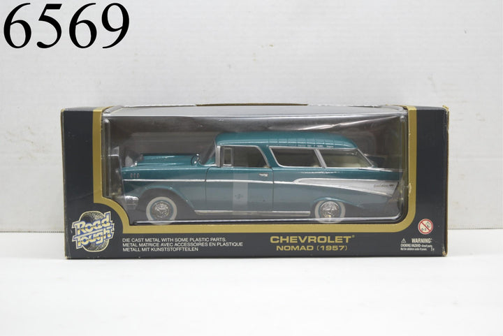 Road Tough 1:18 Die-Cast Metal Collection 1957 Chevrolet Nomad Chevy New In Box