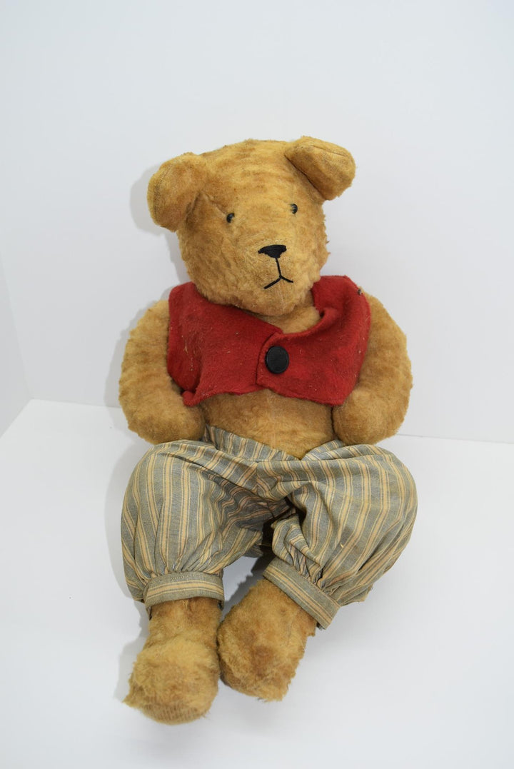 Vintage Antique Handmade Clothes Teddy Bear Rare Jointed Legs She Shed Toys