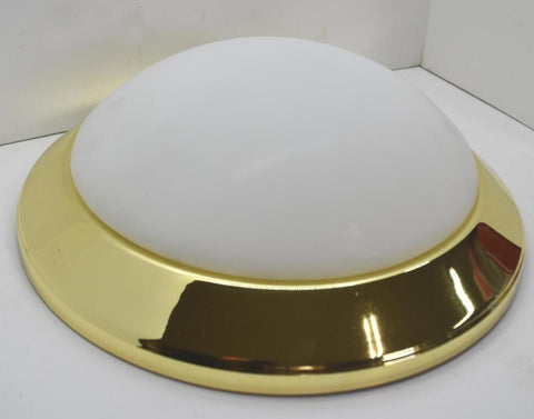 International Lighting Polished Brass Frosted Glass Ceiling Round Light 4802