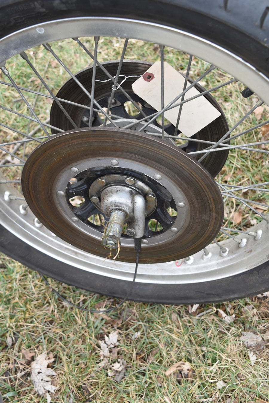 1976-1977 Original Honda GL1000 Front Wheel Rim Hub Goldwing 1000 OEM 76 77