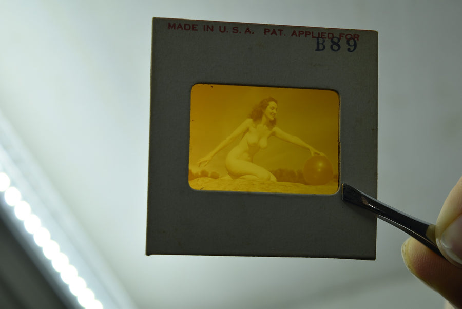 Naked Pinup Transparent Mail Order Slide 1950s Burlesque Girl Negative Erotic