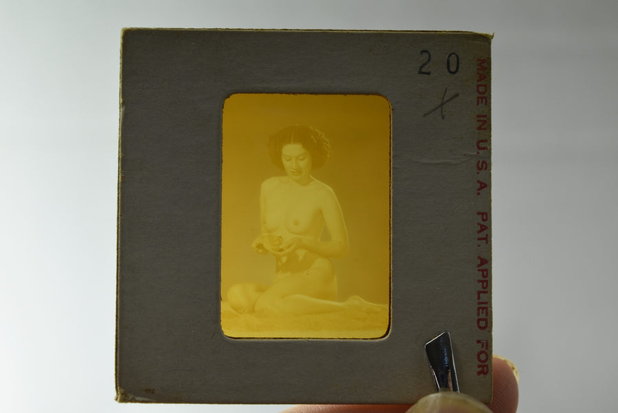 Naked Pinup Transparent Mail Order Slide 1950s Burlesque Girl Negative Erotica