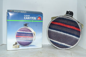 4 Quart Canteen Vintage Boho Flask Blanket Cover Oasis In Original Box!
