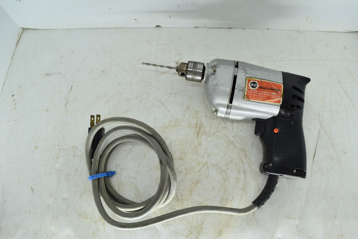 Vintage Black And Decker U-100 U 100 Corded Drill With Bit Tested Works!