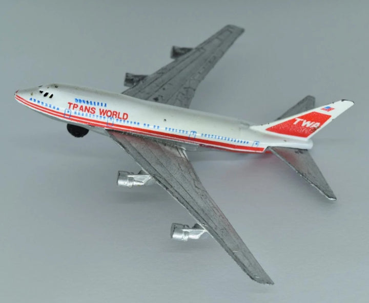 Vintage Die-cast Model Boeing 747 SP Airplane