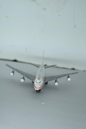 Vintage Diecast TWA Model Airplane Boeing 747 SP Hong Kong