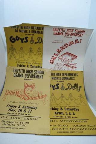 Vintage Play Musical Posters Theater Advertisements Decor