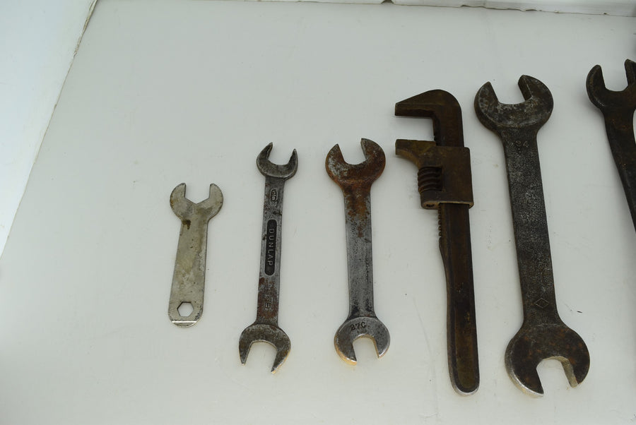 Lot of Vintage Wrenches Pipe Machinist Tools Die Maker Auto Williams Antique