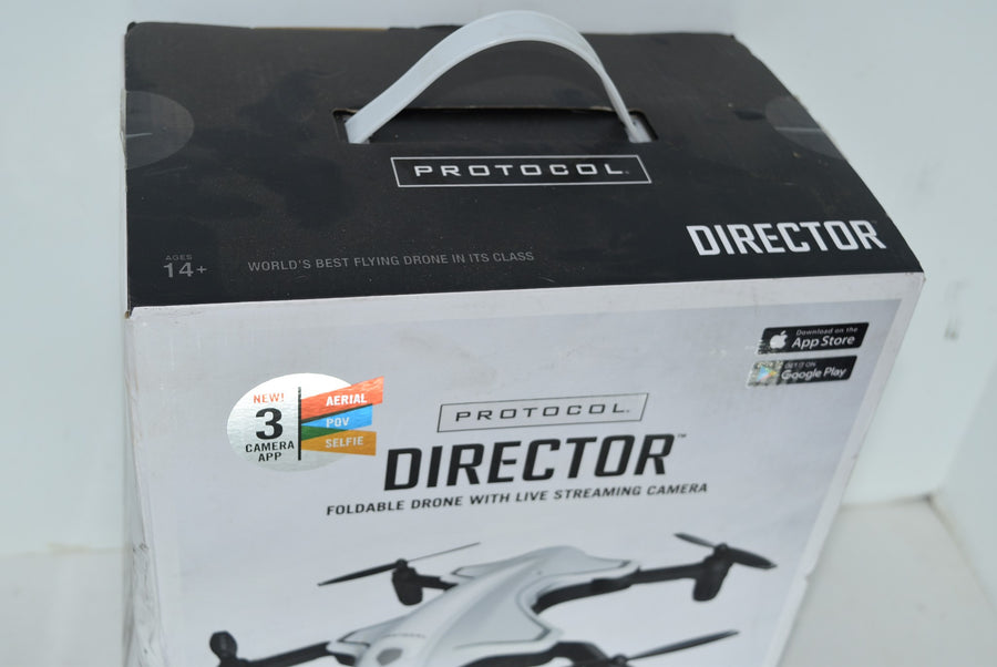 Protocol Director Foldable Drone Live Streaming Camera Toys Gifts Open Box