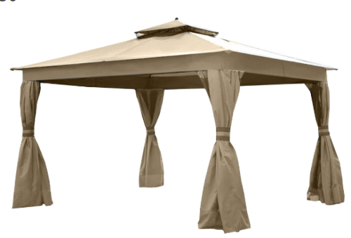 Allen + Roth Gazebo Replacement Canopy Top - Beige (LCM1158)
