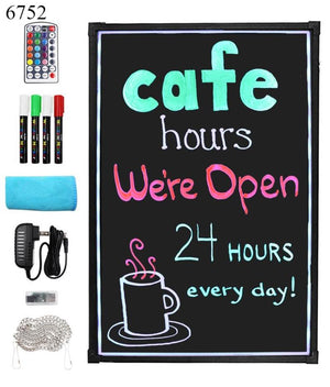 "Everbilt 16""x24"" LED Message Board Chalkboard Restaurant Sign Arts & Crafts NEW"