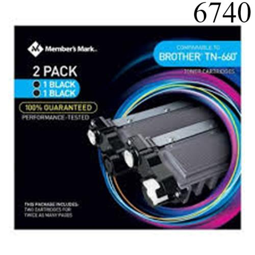 Member's Mark Comparable to Brother TN660 Toner Cartridges Black 2-pack New Box