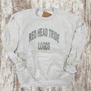 RED HEAD TRIBE LOGOS crewneck